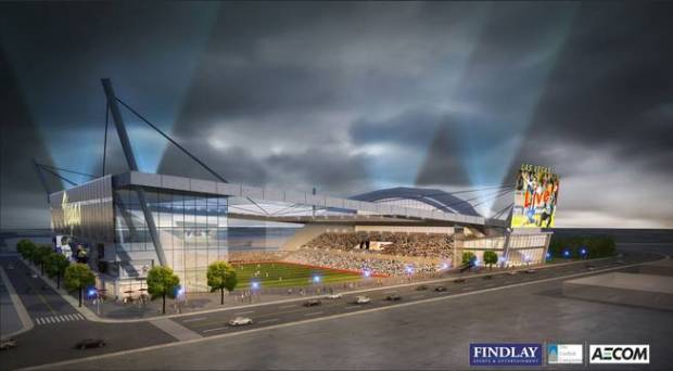 Photo: An artist's portrayal of what a Las Vegas MLS stadium could look like