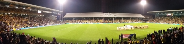Panoramic view of Craven Cottage ahead of kickoff between USA and Colombia on Friday.