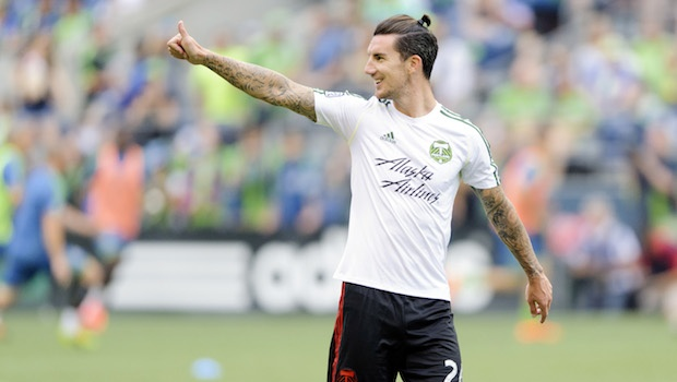 Liam Ridgewell Portland Timbers Thumbs Up