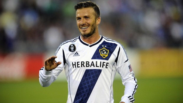 David Beckham while with the LA Galaxy (Photo: MLSSoccer.com)