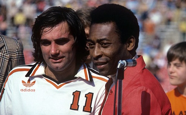 George Best with Pele during his time in the United States (Photo: Duncan Raban/EMPICS Entertainment)