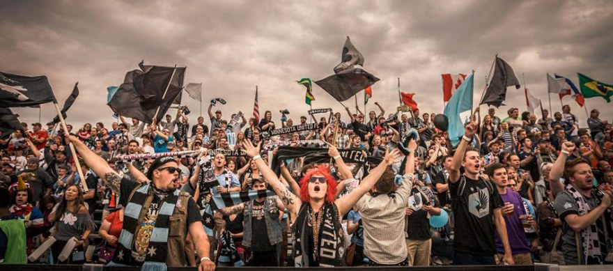 The Dark Clouds are Minnesota United's largest supporters group (Photo: www.dark-clouds.com)