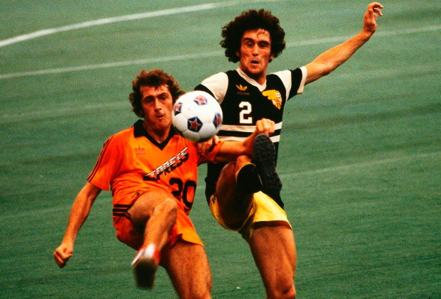 Trevor Francis playing for the Detroit Express (Photo: NASLJerseys.com)