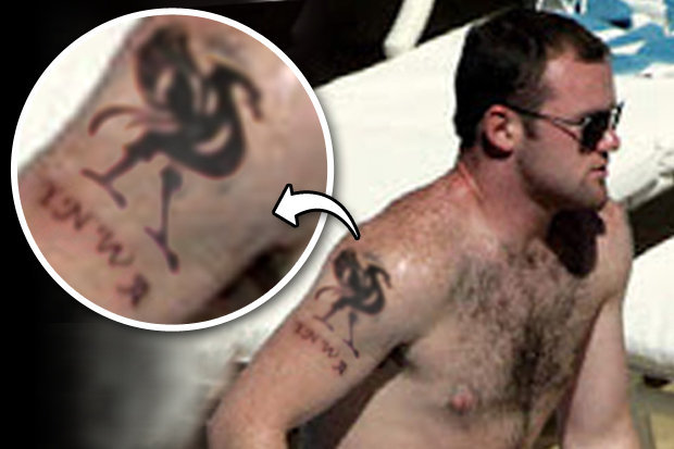 Wayne Rooney's new Liverpool tattoo (Photo: Daily Star)