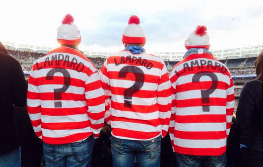 New York City FC fans will wear these shirts to games until Lampard arrives in MLS