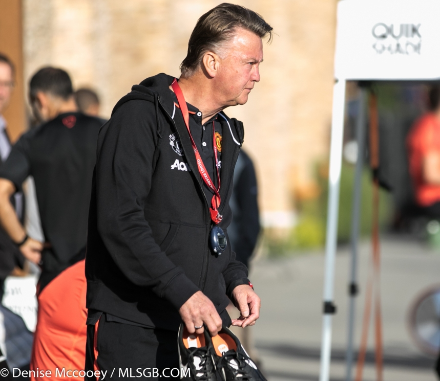 Manchester United Training Seattle 2015 Louis Van Gaal
