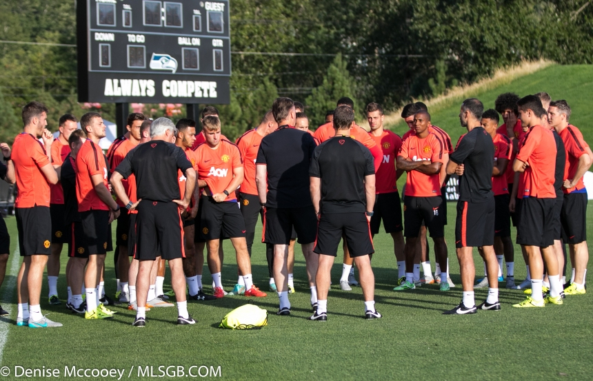 Manchester United Training Seattle 2015