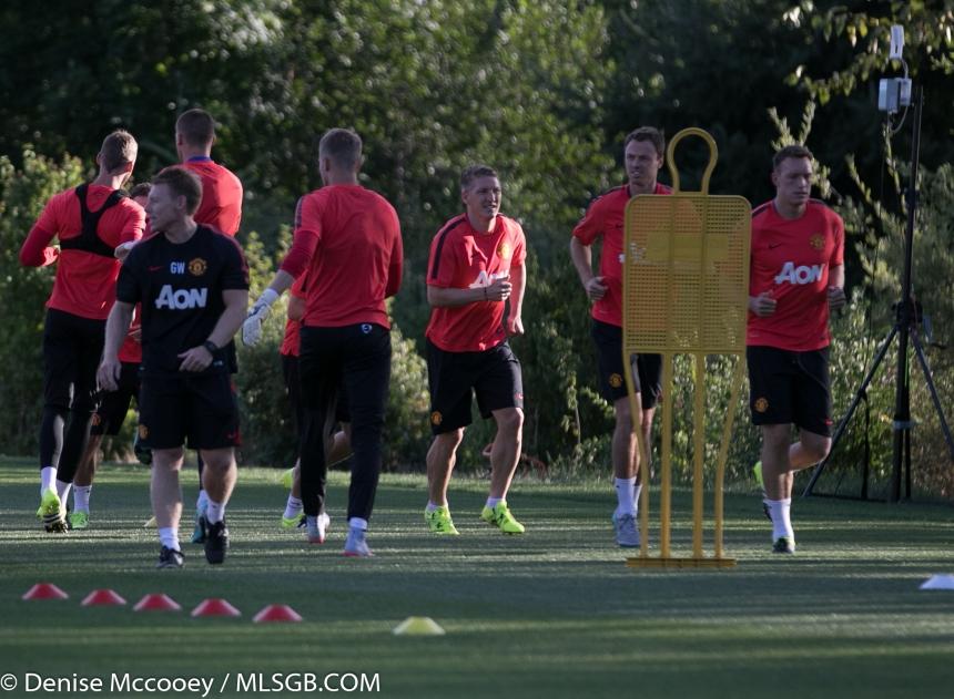 Manchester United Training Seattle 2015 Schweinsteiger