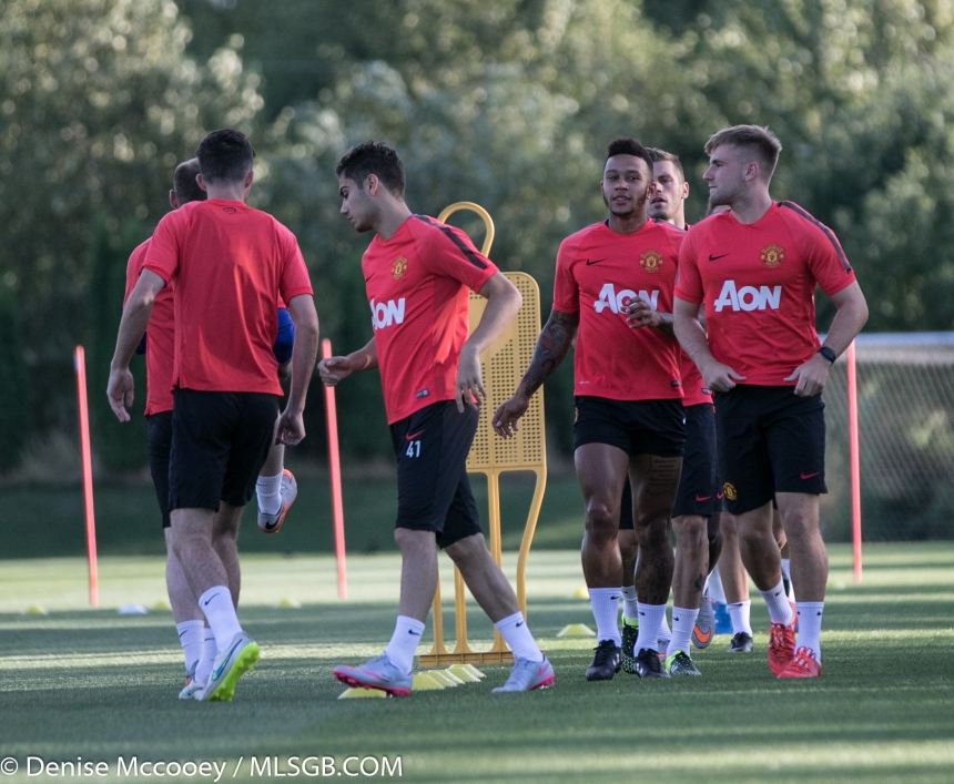 Manchester United Training Seattle 2015 Memphis Depay