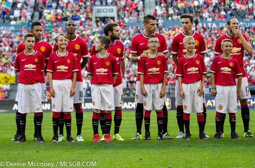 Manchester United vs Club America Seattle Depay Young Mata Schneiderlin Darmian Blind