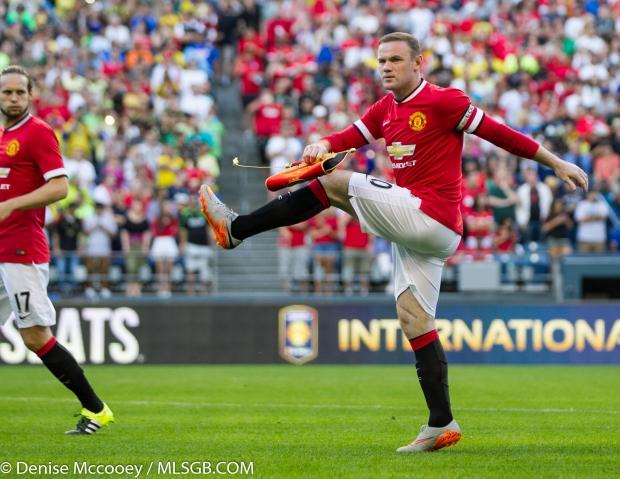 Manchester United vs Club America Seattle Wayne Rooney