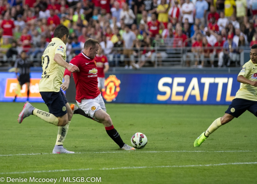 Manchester United vs Club America Seattle Rooney