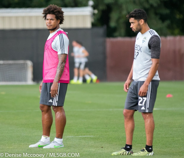 Seattle Sounders Training Roman Torres Lamar Neagle