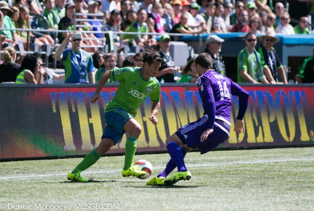 Seattle Sounders vs Orlando City Nelson Valdez Luke Boden