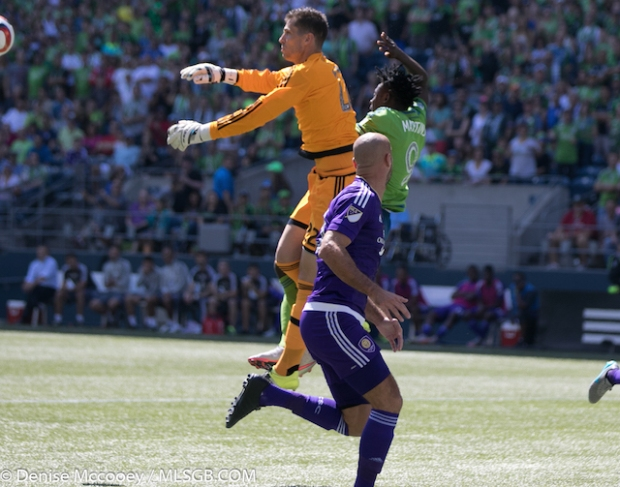 Seattle Sounders vs Orlando City Aurelien Collin Obafemi Martins