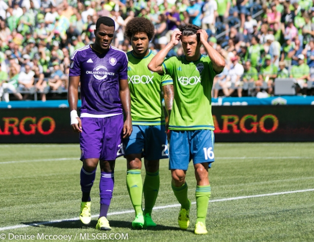 Seattle Sounders vs Orlando City Nelson Valdez Cyle Larin Roman Torres
