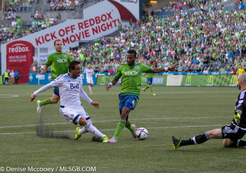 Seattle Sounders vs Vancouver Whitecaps Octavio Rivero Tyrone Mears