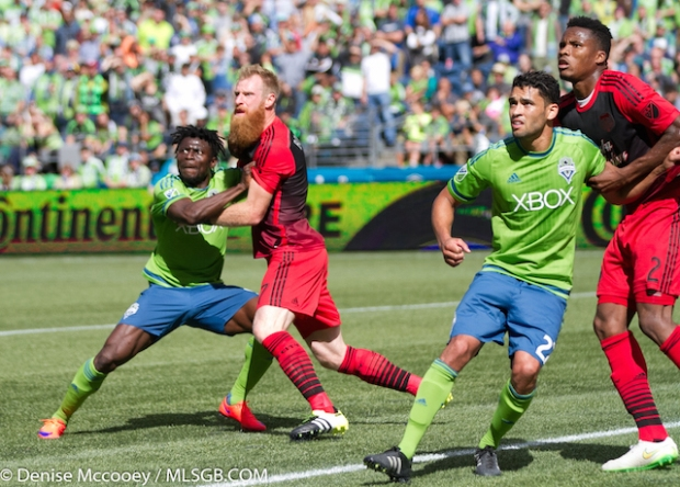 Seattle Sounders vs Portland Timbers Martins Borchers