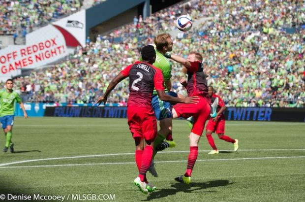 Seattle Sounders vs Portland Timbers Marshall Powell