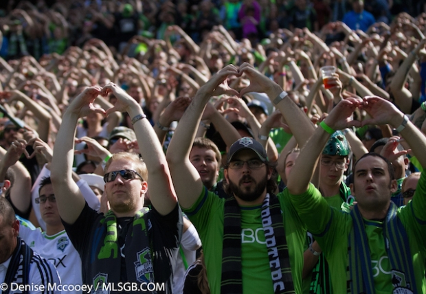 Seattle Sounders vs Portland Timbers Fans