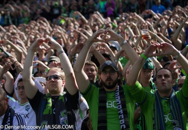 Seattle Sounders vs Portland Timbers Fans