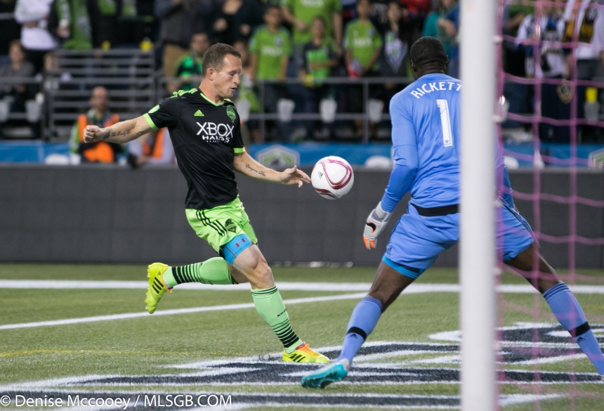 Seattle Sounders vs LA Galaxy Chad Barrett