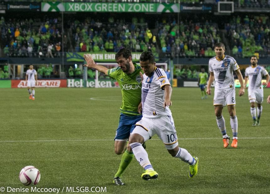 Seattle Sounders vs LA Galaxy MLS Playoffs 2015 Giovani Dos Santos