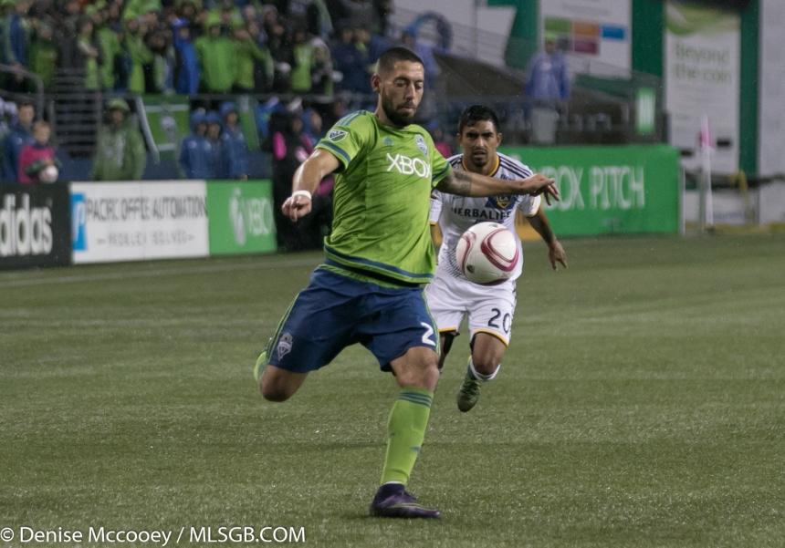 Seattle Sounders vs LA Galaxy MLS Playoffs 2015 Clint Dempsey