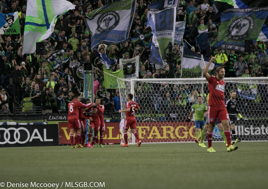 Seattle Sounders vs FC Dallas Celebrate