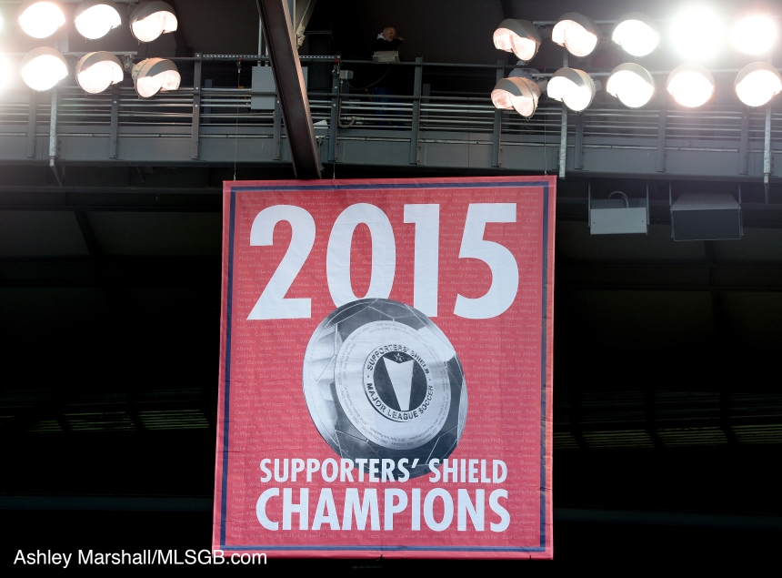 MLS: New York Red Bulls vs. Toronto FC - Supporters' Shield banner