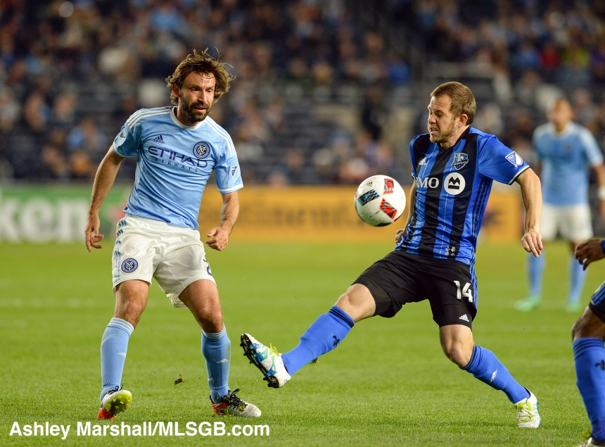MLS: New York City FC vs. Montreal Impact Andrea Pirlo Harry Shipp
