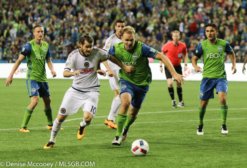Seattle Sounders vs Philadelphia Union Chad Marshall