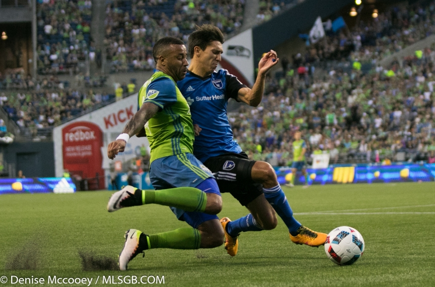 Seattle Sounders vs San Jose Earthquakes Tyrone Mears