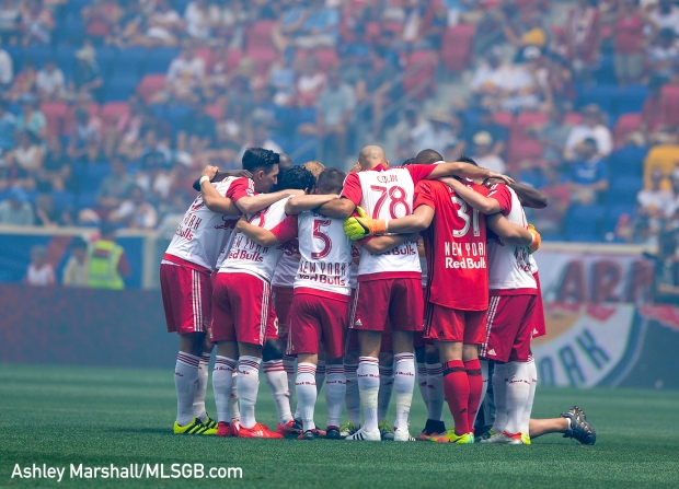 MLS: New York Red Bulls vs. New York City FC - Red Bulls players