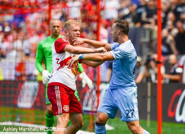 MLS: New York Red Bulls vs. New York City FC - Mike Grella RJ Allen