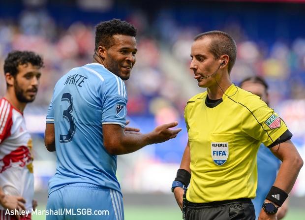 MLS: New York Red Bulls vs. New York City FC - Ethan White Sent Off