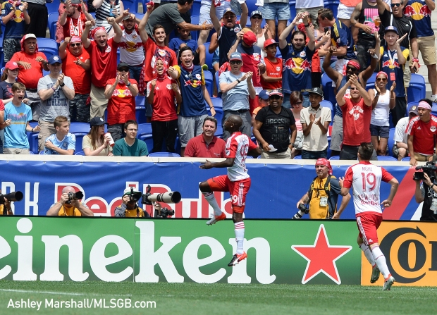 MLS: New York Red Bulls vs. New York City FC - Bradley Wright-Phillips Celebrates