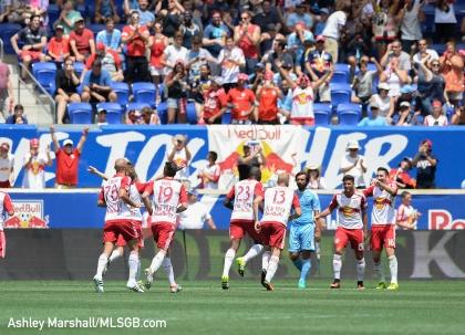 MLS: New York Red Bulls vs. New York City FC - Red Bulls Celebrate