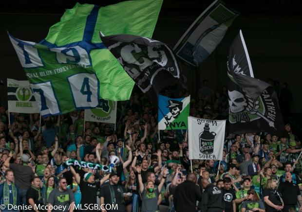 Portland Timbers vs Seattle Sounders - Seattle Fans