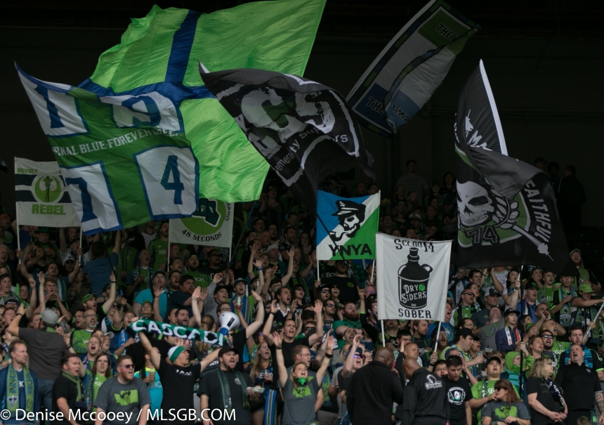 Portland Timbers vs Seattle Sounders - Seattle Fans