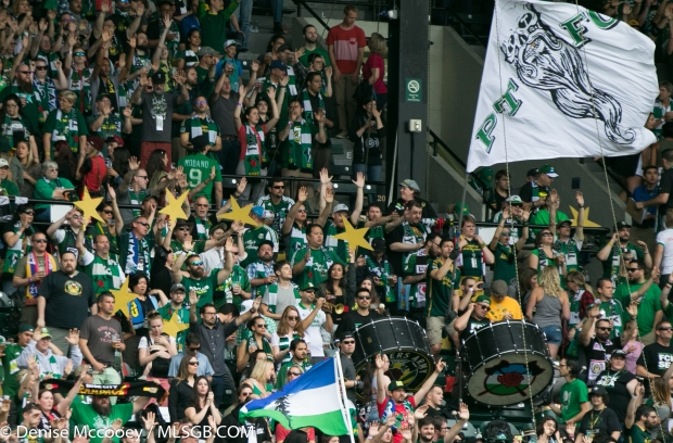 Portland Timbers vs Seattle Sounders - Timbers Fans