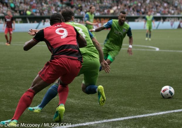 Portland Timbers vs Seattle Sounders - Fanendo Adi