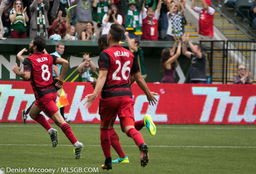 Portland Timbers vs Seattle Sounders - Valeri Celebrates