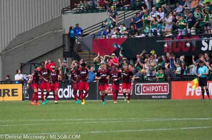 Portland Timbers vs Seattle Sounders - Portland Celebrate