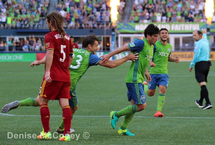 Seattle Sounders vs Real Salt Lake - Nicolas Lodeiro Celebrates