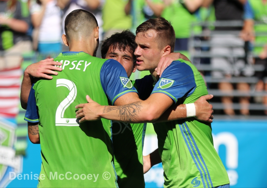 Seattle Sounders vs Real Salt Lake - Dempsey, Morris and Lodeiro