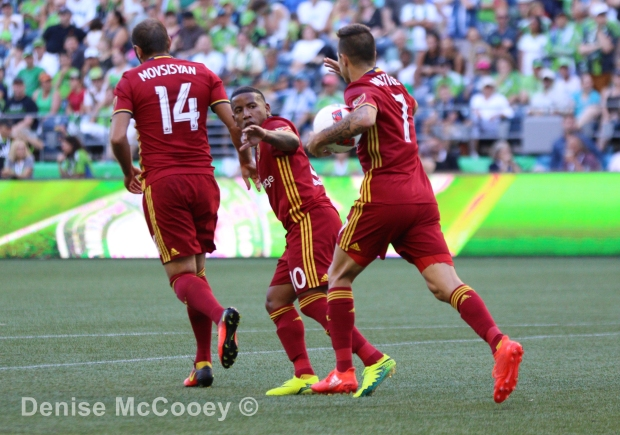 Seattle Sounders vs Real Salt Lake - Joao Plata Celebrates