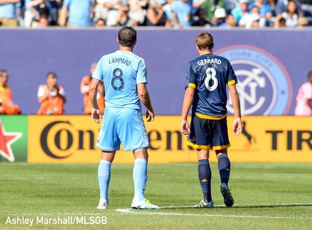 Frank Lampard and Steven Gerrard, MLS: NYCFC vs. LA Galaxy