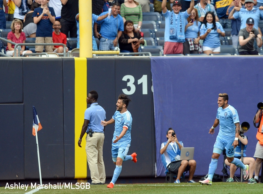 David Villa, MLS: NYCFC vs. LA Galaxy