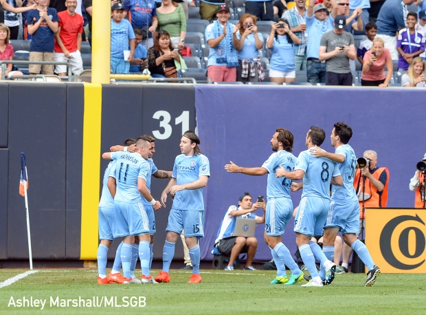 David Villa, MLS: NYCFC vs. LA Galaxy